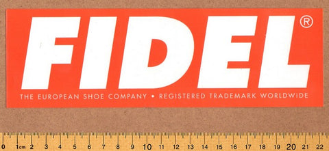 Fidel Shoes Skateboard Sticker Sheet  - DEFECTED - PLEASE READ