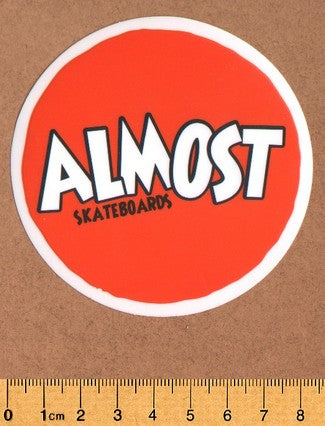 Almost Skateboard Sticker - DEFECTED - PLEASE READ