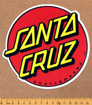 Santa Cruz Skateboard Sticker - DEFECTED - PLEASE READ