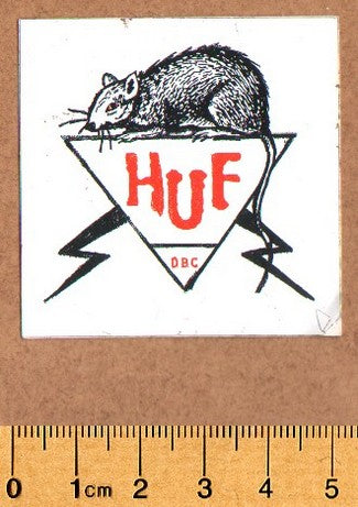 HUF Skateboard Sticker - DEFECTED - PLEASE READ