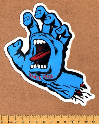Santa Cruz Screaming Hand Skateboard Sticker - DEFECTED - PLEASE READ