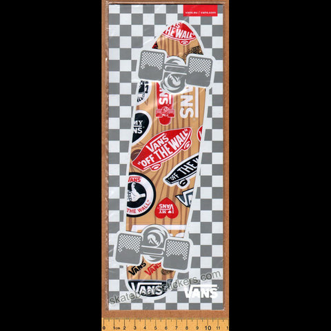 Vans Shoes Skateboard Sticker Sheet in retail packaging  - 27 mini stickers on 1 Sheet