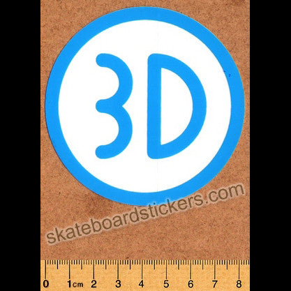 3D Skateboard Sticker - Blue - SkateboardStickers.com