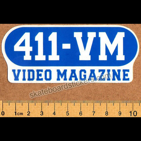411 VM Video Magazine Old School Skateboard Sticker