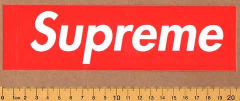Supreme Box Logo Skateboard Sticker - DEFECTED - PLEASE READ