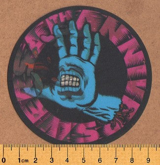 Santa Cruz 30th Anniversary Lenticular Screaming Hand Skateboard Sticker - DEFECTED - PLEASE READ