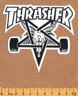 Thrasher Skateboard Sticker - DEFECTED - PLEASE READ