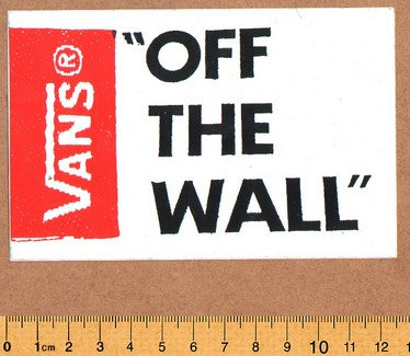 Vans Skateboard Sticker - DEFECTED - PLEASE READ