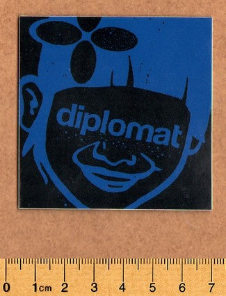 Diplomat Skateboard Sticker - DEFECTED - PLEASE READ