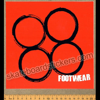 88 Footwear Skateboard Sticker - SkateboardStickers.com