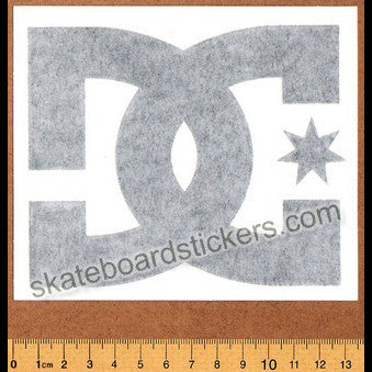 DC Shoe Co. Skateboard Sticker / Rub On Decal - Black