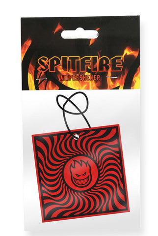 Spitfire Air Freshener Box Swirl Black/Red