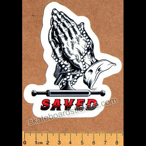 Loose Trucks Saved Hands Skateboard Sticker