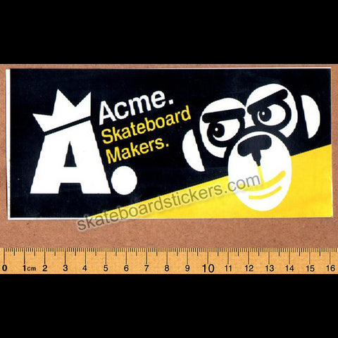 Acme - Skateboard Makers Old School Skateboard Sticker