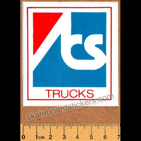ACS Trucks Vintage 70s Old School Skateboard Sticker
