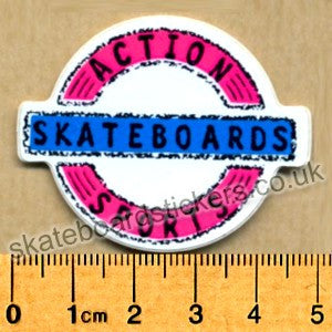 Action Sports Old School Skateboard Sticker - SkateboardStickers.com
