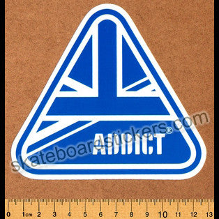 Addict Clothing Skateboard Sticker - Flag - SkateboardStickers.com