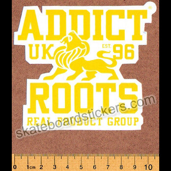 Addict Clothing Skateboard Sticker - Roots - SkateboardStickers.com