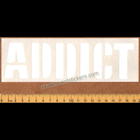 Addict Clothing Skateboard Sticker