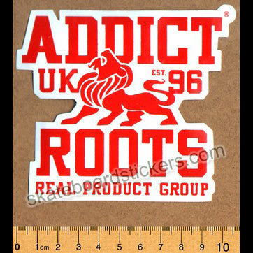 Addict Skateboard Sticker - Roots Red