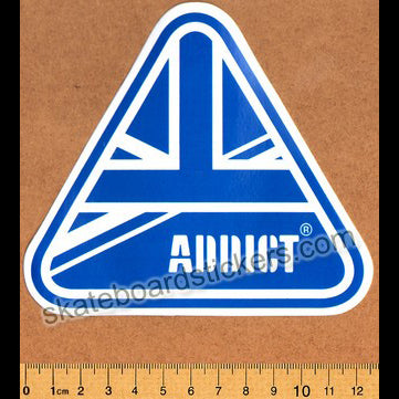 Addict Skateboard Sticker - Flag Blue