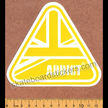 Addict Skateboard Sticker - Flag Yellow