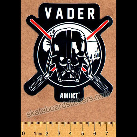 Addict Skateboard Sticker - Vader