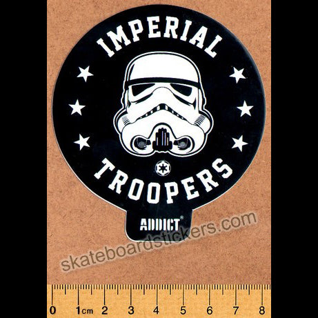 Addict Skateboard Sticker - Imperial Troopers