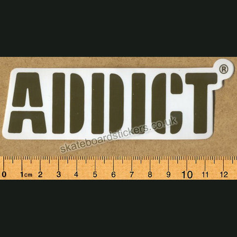Addict Skateboard Sticker Logo - SkateboardStickers.com