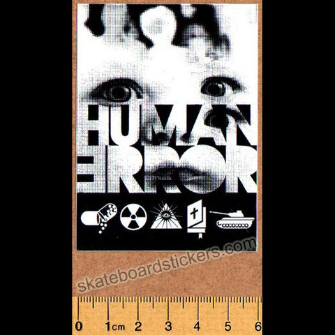 Alien Workshop - Human Error Skateboard Sticker - SkateboardStickers.com