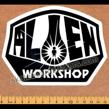 Alien Workshop - Black Logo Skateboard Sticker