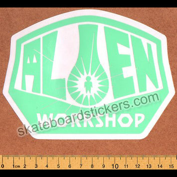 Alien Workshop - Green Logo Skateboard Sticker