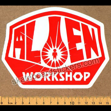 Alien Workshop - Red Logo Skateboard Sticker
