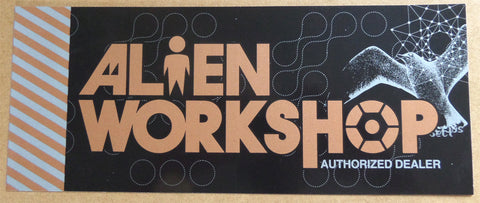 Alien Workshop Authorized Dealer Window Skateboard Sticker