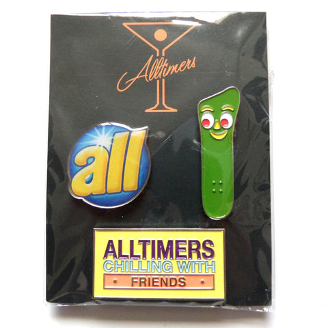 Alltimers Push Back Pin - Set of 3