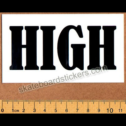 Almost High Skateboard Sticker