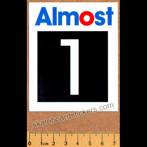 Almost Taladega Skateboard Sticker