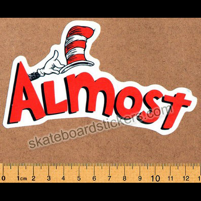 Almost Skateboards - Dr. Seuss Cat in the Hat Skateboard Sticker