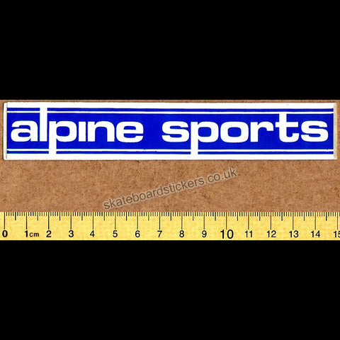 Alpine Sports Old School Skateboard Sticker - SkateboardStickers.com