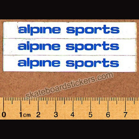 Alpine Sports Old School Skateboard Sticker Sheet - SkateboardStickers.com