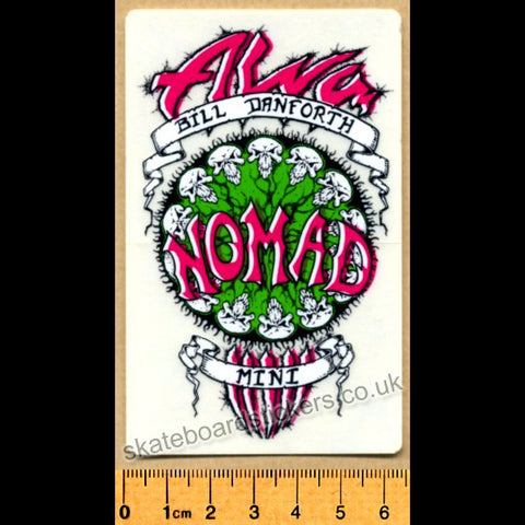 Alva Old School Skateboard Sticker