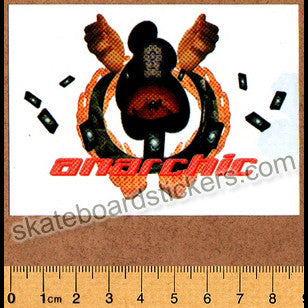 Anarchic Adjustment Clothing Old School Skateboard Sticker - SkateboardStickers.com