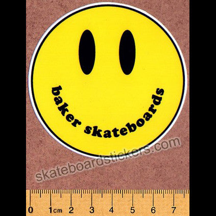 Baker Skateboards Skateboard Sticker - Smiley Face - SkateboardStickers.com