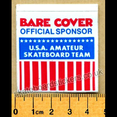 Bare Cover Old School Skateboard Sticker - SkateboardStickers.com