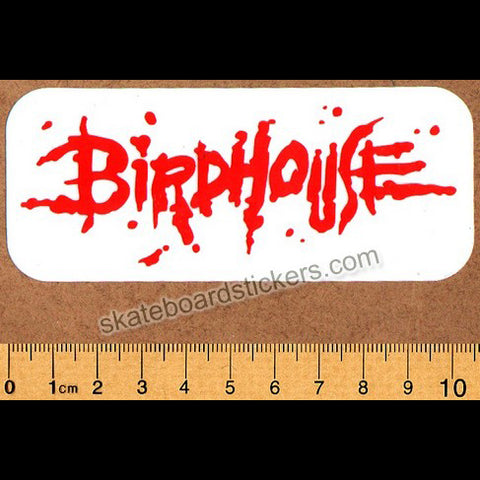 Birdhouse Skateboards Blood Logo Skateboard Sticker - Red