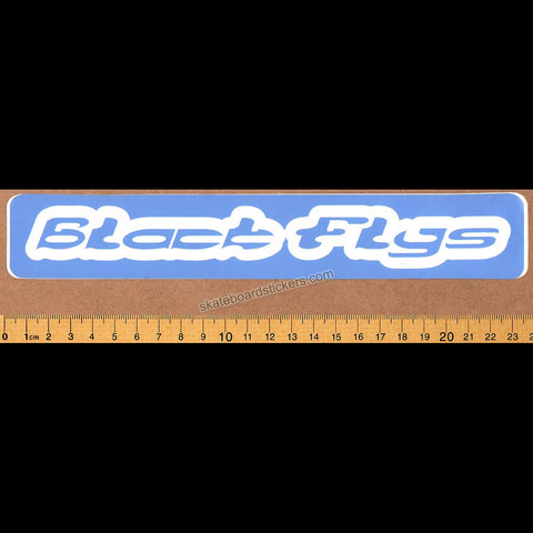 Black Flys Surf Skate Snowboard Eyewear Sticker