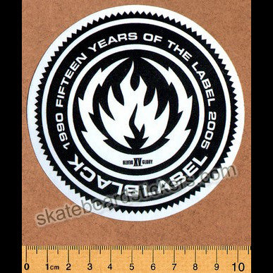 Black Label 15 Years Skateboard Sticker