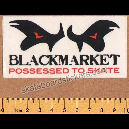 Black Market Old School Skateboard Sticker