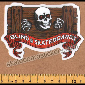 Blind Skateboards Heritage Skull Series Skateboard Sticker - Stocks