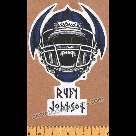 Blind Skateboards Heritage Skull Series Skateboard Sticker - Rudy Johnson